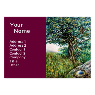 AURORA MAGIC TREE green blue purple Business Card Templates