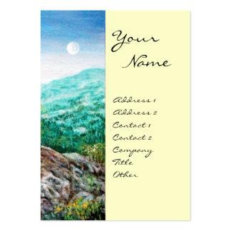 AURORA MAGIC TREE green blue white Business Card