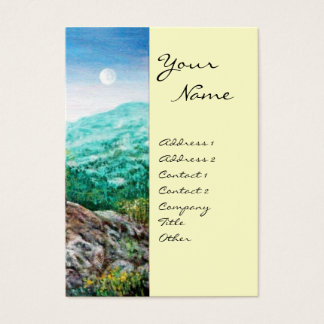 AURORA / MAGIC TREE, green, blue,white Business Card
