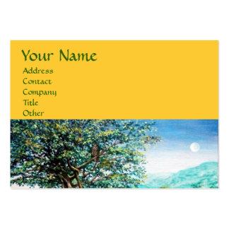 AURORA MAGIC TREE green blue yellow Business Card