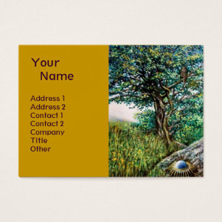 AURORA / MAGIC TREE, green, blue,yellow Business Card