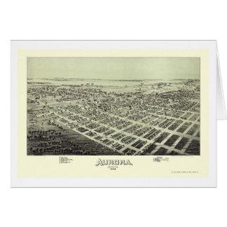 Aurora, MO Panoramic Map - 1891 Card