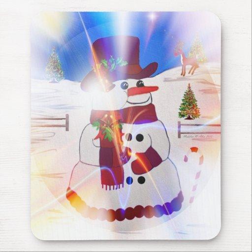 Aurora - muñeco de nieve Mousepad