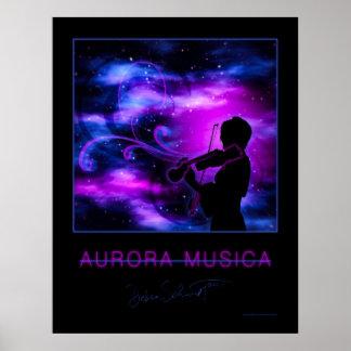 Aurora Musica Violinist Poster