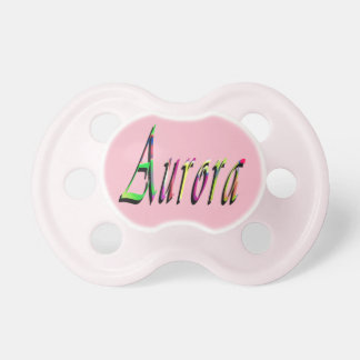 Aurora, Name, Logo, Baby Girls Pink Pacifier