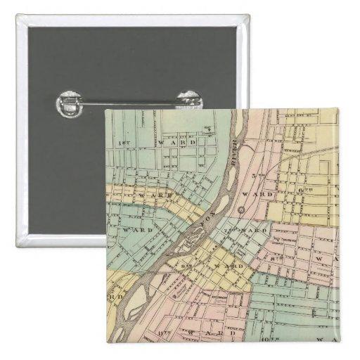 Aurora, Naperville and Wheaton 2 Inch Square Button