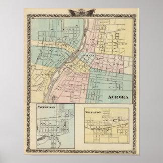 Aurora, Naperville and Wheaton Poster