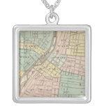 Aurora, Naperville and Wheaton Square Pendant Necklace