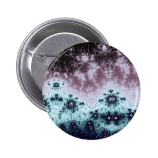 Aurora Night Sky Fractal Pinback Button