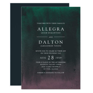 Aurora | Northern Lights Wedding Invitation