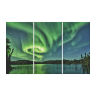 Aurora on the Lake Canvas