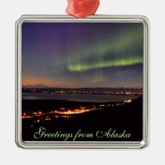 Aurora over Eagle River, Alaska Ornament