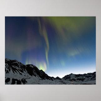Aurora over Independence Mine at Hatcher Pass Poster