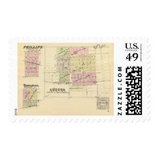 Aurora, Phillips, an Hampton, Nebraska Postage