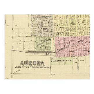 Aurora, Phillips, an Hampton, Nebraska Post Card