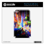 Aurora - pieles del fractal iPod touch 4G calcomanía