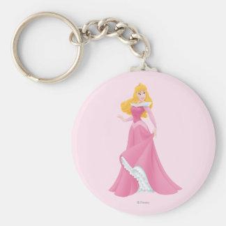 Aurora Posing Basic Round Button Keychain