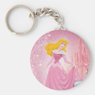 Aurora Princess Basic Round Button Keychain