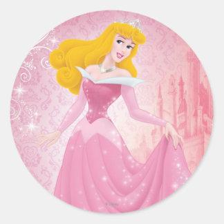 Aurora Princess Round Sticker