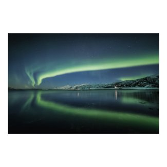 Aurora Reflection Poster