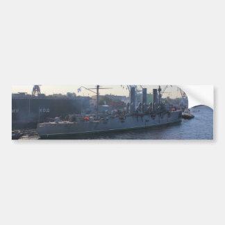 Aurora revolucionaria del buque de guerra pegatina para auto
