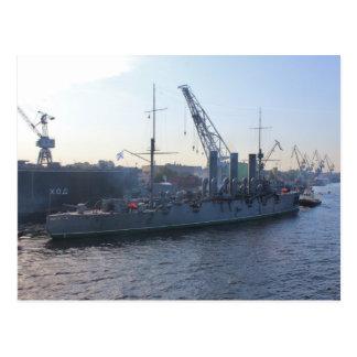 Aurora revolucionaria del buque de guerra postal