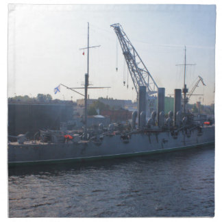 Aurora revolucionaria del buque de guerra servilleta