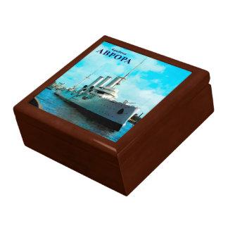 Aurora rusa del crucero caja de recuerdo