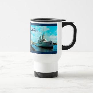Aurora rusa del crucero taza de viaje de acero inoxidable