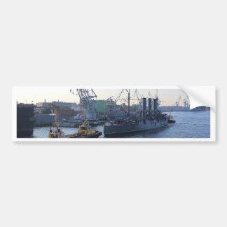 Aurora rusa histórica del crucero pegatina para auto