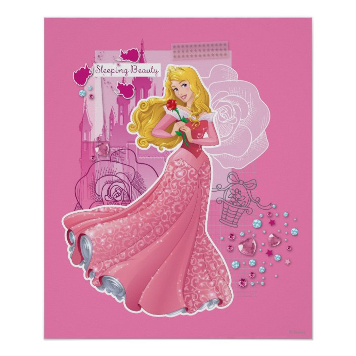 Aurora Sleeping Beauty Poster Zazzle Com