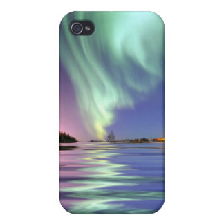 Aurora sobre Alaska iPhone 4 Cárcasas