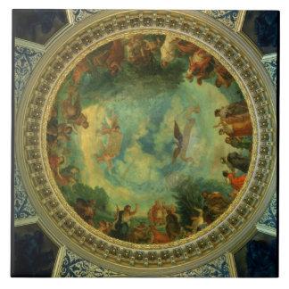 Aurora, techo que pinta posiblemente de la bibliot azulejo cuadrado grande