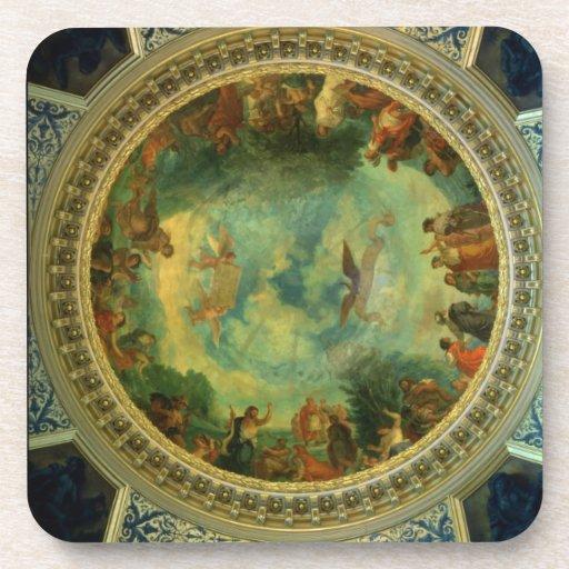 Aurora, techo que pinta posiblemente de la bibliot posavasos de bebida