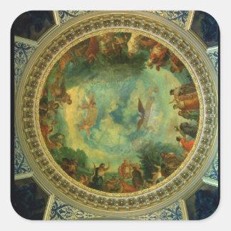Aurora, techo que pinta posiblemente de la pegatina cuadrada