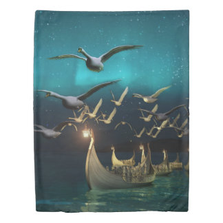 Aurora Voyage (1 side) Twin Duvet Cover