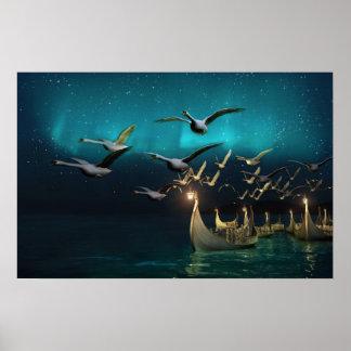 Aurora Voyage Poster