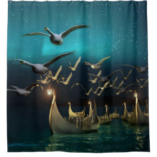 Aurora Voyage Shower Curtain