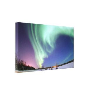 Aurora wrapped canvas print
