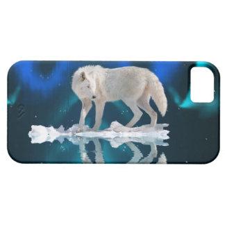 Aurora y caso ártico del iPhone 5 del lobo iPhone 5 Case-Mate Carcasa