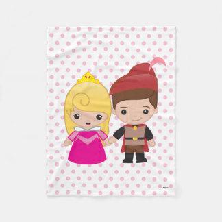 Aurora y príncipe Philip Emoji Manta De Forro Polar