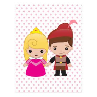 Aurora y príncipe Philip Emoji Postal