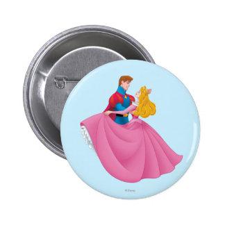 Aurora y príncipe Phillip Dancing Pin Redondo De 2 Pulgadas