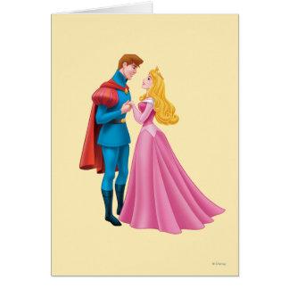 Aurora y príncipe Phillip Holding Hands Tarjeta De Felicitación