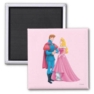 Aurora y príncipe Phillip Imán Cuadrado