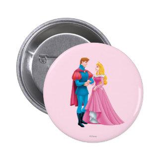 Aurora y príncipe Phillip Pin Redondo 5 Cm