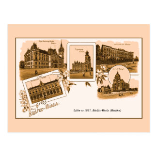 Aus Bielitz-Biala de Gruss del litho del vintage Postal