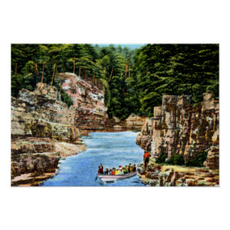 Ausable Chasm New York Boating in the Rapids Posters