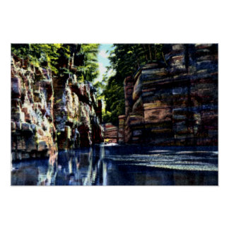Ausable Chasm New York Floating down the Flume Print