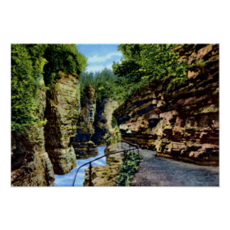 Ausable Chasm New York Path along the Cliff Posters